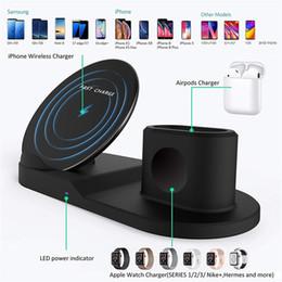Station d'accueil iphone sans fil en Ligne-Support chargeur sans fil pour iPhone Chargeur Station d'accueil pour Apple Watch Montre pour iWatch série 4 3 2 1 iPhone X 8 XS
