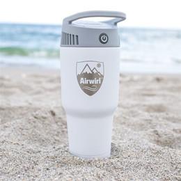 Maquina sopladora online-Máquina de enfriamiento de aire caliente portátil al aire libre Mini Blower Beat Heat uso en el hogar botella de hielo dispositivo creativo pequeño
