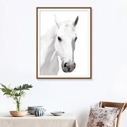 2019 pferd malerei schwarz weiß Minimalistischen Stil Wandkunst Malerei Schwarz Weiß Pferd Bilder HD Drucke Wohnkultur Modular Nordic Leinwand Poster Für Wohnzimmer günstig pferd malerei schwarz weiß