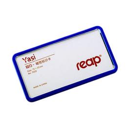 Tarjetas de estudiante online-75x37mm Empresa magnética estudiante empleado empleado ID tarjeta de identificación titular tarjeta de identificación comercial marco marco insignia