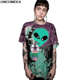 0972dd3ef6fe Contrast Color Alien T Shirt Women Summer Tees Tops Harajuku Suck It Letter  Tees Gothic Tshirts Nice Camiseta Mujer Female Tops