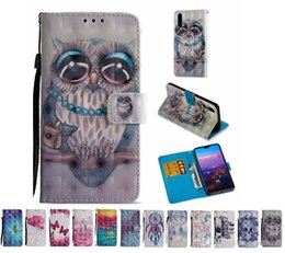 Impreso 3D Owl Flower PU funda de cuero con tapa para ranuras para tarjetas para iphone Xs max XR 8 7 6s Plus Samsung S7 S8 S9 S9E Plus Nota 8 9 desde fabricantes