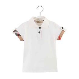 Popular fashoin boy ropa blanco verano niños chico polo 2019 nueva buena calidad chico camiseta con tela escocesa desde fabricantes