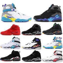 Haute Qualité 8 8s Chaussures De Basket ball Pour Hommes Femmes Aqua Blanc VALENTINES JOUR AQUA CHROME SUD BEACH Hommes Designer Sport Sneakers