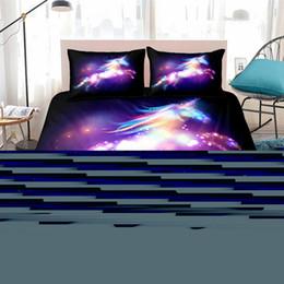 Fanaijia Galaxy Unicorn Bettwäsche Set Kinder Mädchen Bettbezug 3-teilig lila Sparkly Unicorn Tagesdecke Einheitsgröße von Fabrikanten