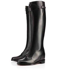 eeff09d4fae Fashion Winter Designer Brand Ladies Over Knee Boots Red Bottom foresta  Woman Red Sole Boots High Quality Genuine Leather discount patent flat over  knee ...