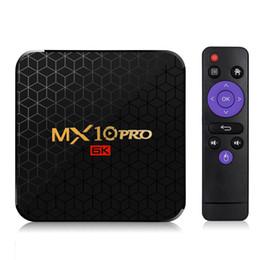 Argentina Android 9.0 TV BOX MX10 Pro 6K allwinner H6 Quad-Core 4GB / 32GB caja inteligente de 2.4GWIFI incorporada Suministro