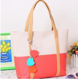 Handtasche farbblock online-1Women's Handbag 2014 Tägliche Umhängetasche Lässige Handtasche Trend Of The Color Block Decoration Kleine Blumentaschen