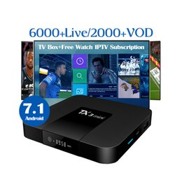 arabic channel iptv box Coupons - Best IPTV Box TX3 mini Android TV Box with 6000+channels 1 Year IPTV subscription Sports Europe France Arabic UK Italy US CA