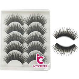 Коричневые ресницы онлайн-ICYCHEER 5Pair Fake False Natural Eyelashes  Eye Lashes Set Long Thick Black& Brown Eyelash Extension