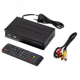pontos de áudio Desconto Receptor de Satélite DVB-T2 TV Tuner Terrestrial Receiver DVB S Digital Suporte H.264 AC3 Dobly