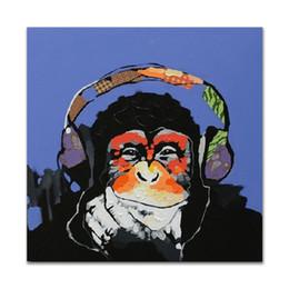 peinture à l'huile abstraite forêt hd Promotion Décoré Tableau abstrait Art peinture sur toile peinte à la main peinture à l'huile de chimpanzé Chipanzé King Kong pour la décoration murale canapé [sans cadre]