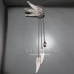 Correntes extravagantes para jóias on-line-Fairy Dress Jewelry cauda Elf Pixie longa cadeia de borla punhos ouvido Clipe Em Pinzas Brincos oorbellen Brincos Fantasia da asa do anjo