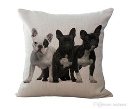 Deutschland Tier Französisch Bulldogge Hund Kissenbezüge Baumwolle Leinen Kissen Kissenbezug Throw Pillowcase Sofa Quadrat Pillowslip 240367 Versorgung