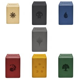deck cards Promo Codes - Ultra Pro 100 Cards Deck Box Alkov Leather Board Games TCG Cards Deck Case for Magical The Cards MGT Pkm YGO Gathering Games T191101