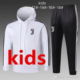 2018 2019 New kids Sweater With Hoodie18   19 real madrid man United  Juventus RONALDO Suéter informal 2019 Suéteres blancos Sudadera con capucha  En ventas 320a2100c33d