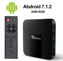 Ott quad core tv en Ligne-2019 Tx3 Mini Android 7.1 OTT TV Box Amlogic S905W Quad Core 2 Go 16 Go 4K Smart Streaming Media Player