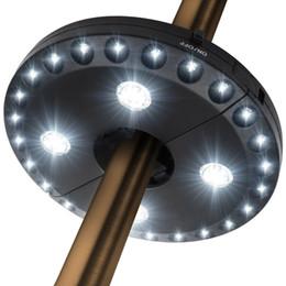 2019 patio sonnenschirme JML Patio Umbrella Light 3 Helligkeitsmodi Kabellos 28 LED-Leuchten mit 200 Lumen - 4 x 2A Batteriebetrieben günstig patio sonnenschirme