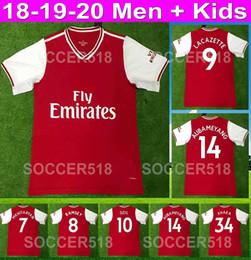 Arsenal 2019 2020 AUBAMEYANG LACAZETTE 19 20 детские футбольные майки MKHITARYAN RAMSEY майка футболки TORREIRA red kit camisa de futebol arsenal home red soccer jersey football от