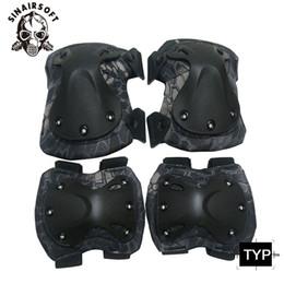 Gomitiere da gomito di alta qualita per ginocchiere Gomitiere con gomito Set nuovo Tactical Paintball Protection # 515442 cheap paintball pads da pattini di paintball fornitori