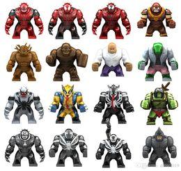 2019 grande super herói Big 7cm Super Hero Rinoceronte Kingpin Carnage Skaar Lagarto Coiote Toxina Anti-Veneno Wolverine SetToys grande super herói barato