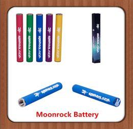 Chiudere le luci della batteria online-Batteria Moonrock 350mAh ricaricabile per cartucce penna Vape Batteria 7 colori 10.5mm 510 Bud Touch Batteria LED Luce per carrelli Moonrock Clear