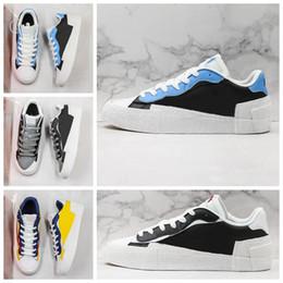 NIKE 2020 all ingrosso Sacai X Blazer Mid With The Dunk progettista del mens nero scarpe alte Bianco Leggenda Blue Snow Beach in esecuzione casual