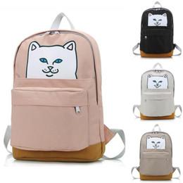 color de la mochila de gato Rebajas Nueva marca Nermal para hombre para mujer bolsos de diseño Gato en la mochila de bolsillo Dedo medio gatos Mochilas 5 colores