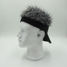 2019 perucas de cabelo engraçado Homens Esporte Boné De Beisebol Falso Flair Cabelo Sombrinha Chapéus Peruca Peruca de Cabelo Engraçado Feminino Perda de Cabelo Legal Presentes perucas de cabelo engraçado barato