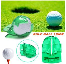 2020 golfballschuh Ball Liner Im Freien Golfball grünes Markierungswerkzeug Golfzubehör Golfzeichenwerkzeug aus Kunststoff Easy Produkte zu tragen günstig golfballschuh