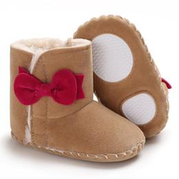 Botas de goma viejas online-Invierno 0-1 años botas para la nieve medio de goma bebé femenino cálidos zapatos del niño del bebé apoyan una generación de pelo