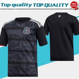 México futebol jérseis preto on-line-Nova 2019 México CCCF Gold Cup casa de Futebol preto Jersey # 14 CHICHARITO 19/20 # 22 H.LOZANO dos homens camisa preta Uniforme de Futebol À venda