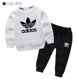 Детская одежда Модный комплект из 2 предметов Одежда для малышей Верхняя часть с длинными рукавами для мальчиков Спортивная одежда Детская спортивная одежда Add-idas7 от