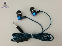 Serpentina barata común Tejido trenzado cable auriculares auriculares auriculares auriculares ventas directas de fabricantes azul verde cp-13 300 unids desde fabricantes
