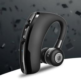 Auricular de la oreja de la caída del deporte online-V9 Business, Sport Bluetooth Headset Colgante inalámbrico CSR Chip Stereo, Auricular Bluetooth de una sola oreja, Auriculares para teléfono celular