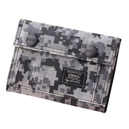 sacs à main Promotion porte-monnaie de designer sac à main pour hommes New Canvas Wallet Id bifold camouflage titulaire de la carte de crédit porte-monnaie Mesh Pocket