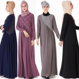 Lindo vestido muçulmano on-line-Venda quente bonito Bud vestido de seda das mulheres Muçulmanas elegante Tem temperamento muçulmano vestido trajes nacionais Tradicionais