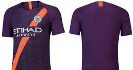 642acca2bd3 2018-19 KUN AGUERO Third Away Soccer Jersey Name Set Printed DE BRUYNE  JESUS SILVA Soccer Wear Kits Maillot Sport Shirts