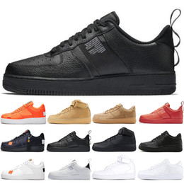 new arrival 8689d aac09 nike air force 1 af1 just do it Dunk utility Uomo Donna Scarpe economici Low  Cut One 1 Scarpe All White Nero 1s Classic AF High Knit Skateboard Scarpe  ...