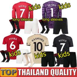 2019 ronaldo jersey giovani bambini Manchester United POGBA LINGARD 19 20 Maglie da calcio Utd 2020 RASHFORD Set di magliette da calcio de Gea MAGUIRE kit per bambini uniformi