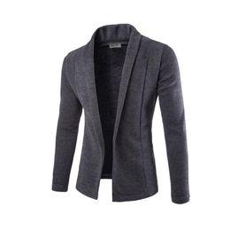 ZOGAA Повседневные мужские пиджаки парни с длинными рукавами сплошной цвет повседневные пиджаки мужские мужские официальные приталенные деловые пиджаки 2019 от