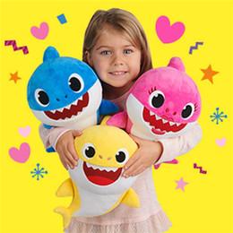 Argentina 3 colores 32 cm 11.8 pulgadas Baby Shark Peluches con música cantan la canción en inglés Cartoon Stuffed Lovely Animal Soft Dolls Music Shark Toy z296 Suministro