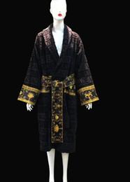 Роскошный классический Signage V марка Халат 100% Египет хлопок с принтом для мужчин и женщин Одежда для дома Мода Одежда для дома Семья любителям подарок от