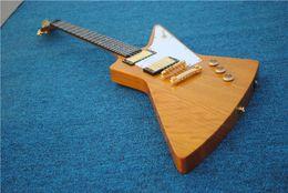 Nouvelle édition personnalisée de haute qualité de la guitare électrique extraterrestre explorer métal rock goose or accessoires livraison gratuite ? partir de fabricateur