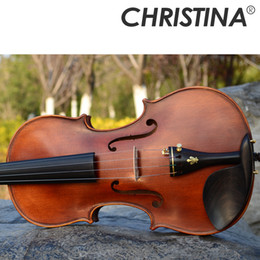 Italien Christina V06B Matte Violine Handgefertigt Professionelle High-End Matte 3/4 4/4 Violino Musikinstrument Geige Fall Kolophonium Bogen Violon von Fabrikanten