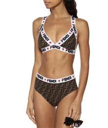 Designer de luxo Senhoras Verão Praia Duas Peças Natação Bikini Underwear Swimwear Das Mulheres Maiô Sexy Maiôs Sexy Swimsuits 4 Tamanho de