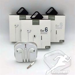 2019 auricular micrófono micrófono Auriculares estéreo de alta calidad de 3.5 mm para auriculares blancos en la oreja con micrófono y control de volumen para iPhone Samsung con embalaje auricular micrófono micrófono baratos