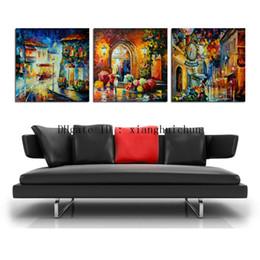 abstrakte sonnenaufgang gemälde Rabatt Leonid Afremov: Blumengeschäft, 3 Stücke Home Decor HD gedruckt moderne Kunst Malerei auf Leinwand (ungerahmt / gerahmt)