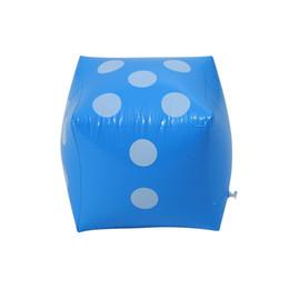 cadeaux disco pour enfants Promotion 32cm grand jeu gonflable diagonal de dés de jeu de dés gonflable de jumbo