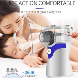 2020 Promotional Low price Medical Handheld portable inhaler ultrasonic nebulizer machine better than walmart vibrating mesh nebulizer